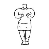 Cartoon female body (add photos or mix and match cartoons) Royalty Free Stock Photos