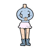 Cartoon female body (add photos or mix and match cartoons) Royalty Free Stock Images