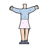 Cartoon female body (add photos or mix and match cartoons) Stock Images