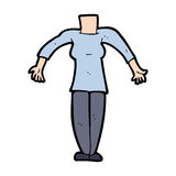 Cartoon female body (add photos or mix and match cartoons) Royalty Free Stock Photography