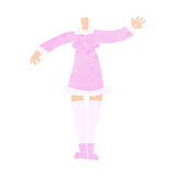 Cartoon female body (add photos or mix and match cartoons) Stock Photo