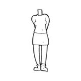 Cartoon female body (mix and match cartoons or add own photos) Royalty Free Stock Photography