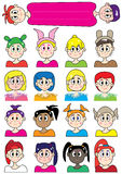 Cartoon Female Colorful Set_eps Royalty Free Stock Images
