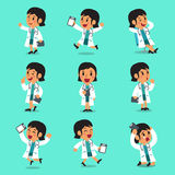 Cartoon female doctor character poses Stock Photo