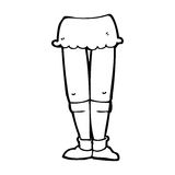 Cartoon female legs Stock Images