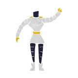 Cartoon female robot body  (mix and match cartoons or add own photos) Stock Image