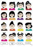 Cartoon Female Set_eps Royalty Free Stock Photos