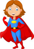 Cartoon female super hero posing Royalty Free Stock Images