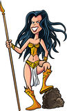 Cartoon female warrior Royalty Free Stock Photos
