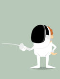 Cartoon fencer Stock Photos