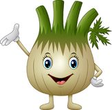 Cartoon fennel waving hand. Illustration of Cartoon fennel waving hand Royalty Free Stock Photography