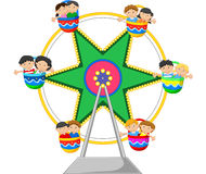 Cartoon Ferris Wheel Over Stock Photo