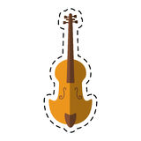 Cartoon fiddle classical music instrument. Vector illustration eps 10 Royalty Free Stock Photo