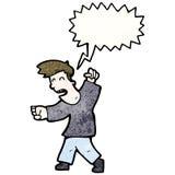 Cartoon fighting man Stock Photography