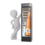 Cartoon Figure Leaning Against Beer Cooler Royalty Free Stock Photos