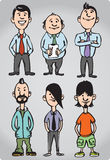 Cartoon figures of office people and freaks. Vector illustration of cartoon figures of office people and freaks. Easy-edit layered vector EPS10 file scalable to Royalty Free Stock Photography