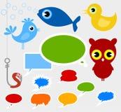 Cartoon film animals. Set of icons a cartoon film of animals. A vector illustration Stock Photos