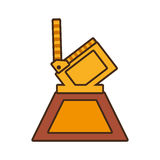 Cartoon film clapper trophy awards gold wooden. Vector illustration eps 10 Royalty Free Stock Photography