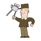 cartoon film maker Stock Image