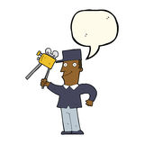 cartoon film maker with speech bubble Stock Images