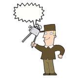 cartoon film maker with speech bubble Stock Photos