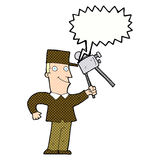 cartoon film maker with speech bubble Royalty Free Stock Image