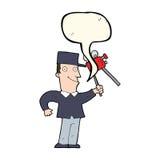 cartoon film maker with speech bubble Stock Photo