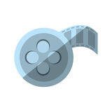 Cartoon film reel cinema video tape. Illustration eps 10 Royalty Free Stock Photos