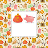 Cartoon Finance & Money card Royalty Free Stock Images