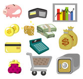 Cartoon Finance & Money Icon set. Cartoon Finance & Money Icon set, drawing Royalty Free Stock Photography
