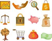 Cartoon Finance & Money Icon set. Cartoon Finance & Money Icon set,vector,illustration Royalty Free Stock Photography