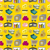Cartoon Finance & Money seamless pattern. Cartoon Finance & Money seamless pattern, drawing Stock Photography