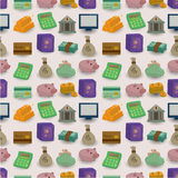 Cartoon Finance & Money seamless pattern Royalty Free Stock Photo