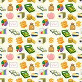Cartoon Finance & Money seamless pattern Royalty Free Stock Images