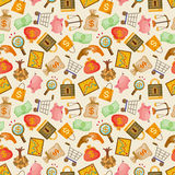 Cartoon Finance & Money seamless pattern Stock Photo