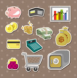 Cartoon Finance & Money stickers Royalty Free Stock Images