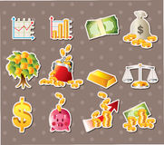 Cartoon Finance & Money stickers Stock Images