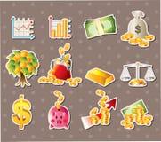 Cartoon Finance & Money stickers. Cute cartoon vector illusttration Stock Images