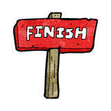 Cartoon finish sign Royalty Free Stock Photography