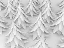 Cartoon Fir Forest, White. Stylized cartoon 3d fir trees, white background Stock Photography