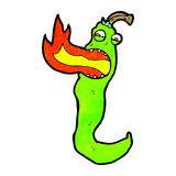 Cartoon fire breathing chili pepper Stock Image