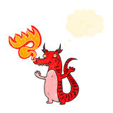 Cartoon fire breathing dragon Royalty Free Stock Photos