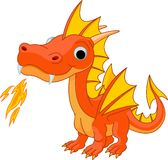 Cartoon fire dragon. Illustration of Cute Cartoon fire dragon Stock Photography