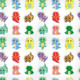 Cartoon fire dragon seamless pattern Royalty Free Stock Image
