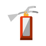 Cartoon fire extinguisher safety security industrial shadow Royalty Free Stock Image