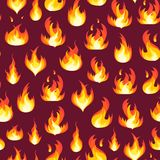 Cartoon Fire Flames Background Pattern. Vector Royalty Free Stock Photo