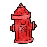 Cartoon fire hydrant. Retro cartoon with texture. Isolated on White Royalty Free Stock Photography