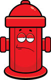 Cartoon Fire Hydrant Tired. Cartoon illustration of a fire hydrant with a tired expression Stock Image
