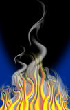 Cartoon fire & smoke Royalty Free Stock Photos