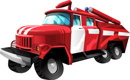 Cartoon Fire Truck. Fire Truck in cartoon style as a  illustration Royalty Free Stock Image